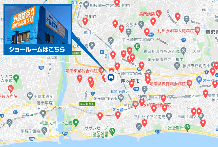 神奈川県エリア地図