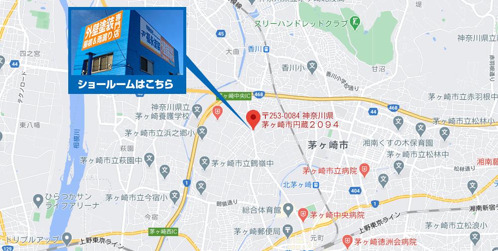 茅ケ崎市エリア地図
